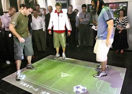интерактивный пол игра в футбол