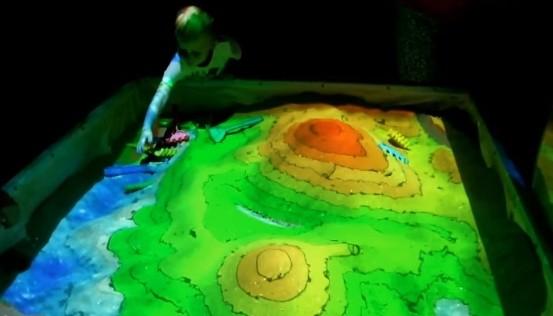 интерактивная песочница материки