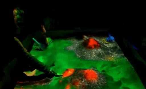 интерактивная песочница вулканы