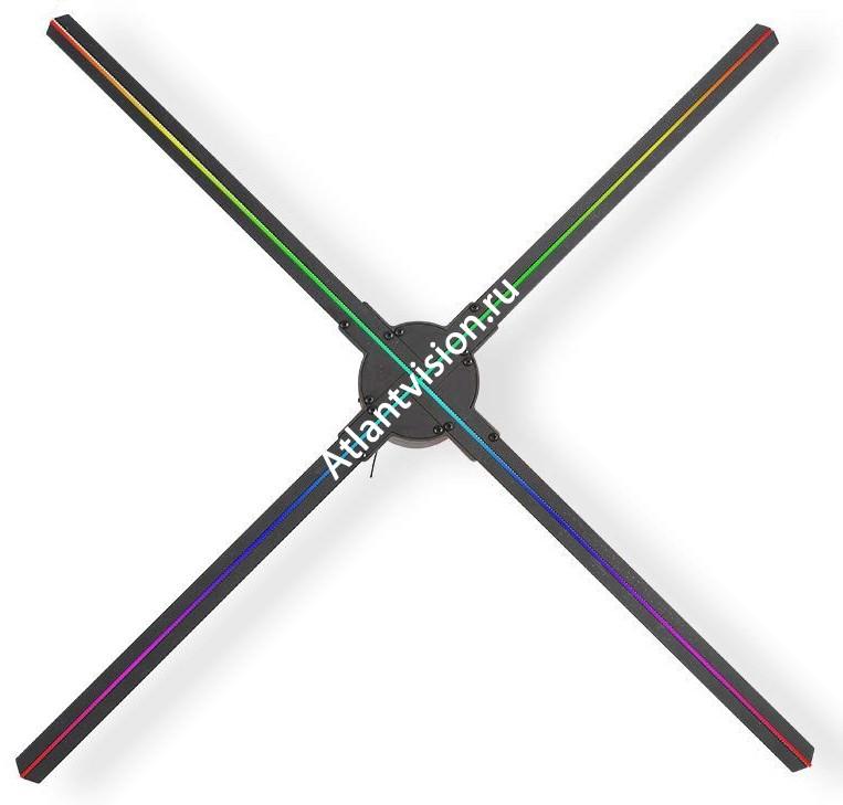 голографический вентилятор с 4 цветными лопастями