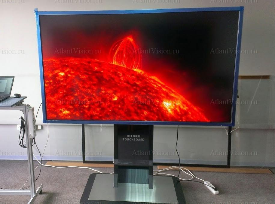 интерактивная панель в работе