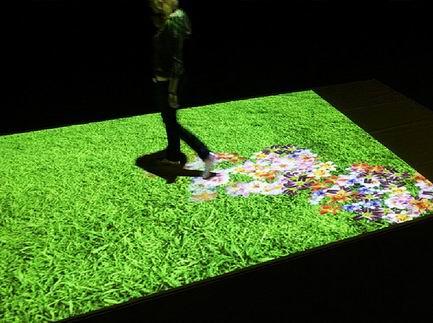интерактивый пол газон