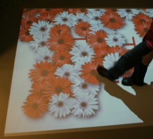 интерактивный пол цветы